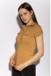 Классическая рубашка 118P001 с коротким рукавом кофейный