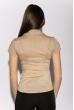 Классическая рубашка 118P001 с коротким рукавом светло-бежевый