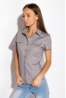 Классическая рубашка 118P001 с коротким рукавом стальной