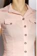 Классическая рубашка 118P001 с коротким рукавом бледно-розовый