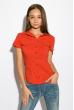 Классическая рубашка 118P001 с коротким рукавом красный