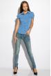 Классическая рубашка 118P001 с коротким рукавом сизый