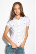 Классическая рубашка 118P001 с коротким рукавом молочный