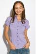 Классическая рубашка 118P001 с коротким рукавом сиреневый