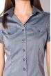 Классическая рубашка 118P001 с коротким рукавом серый