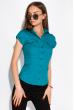 Классическая рубашка 118P001 с коротким рукавом бирюзовый