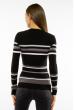 Пуловер женский с V-образным вырезом 618F151 черно-белый