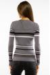 Пуловер женский с V-образным вырезом 618F151 серый