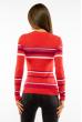 Пуловер женский с V-образным вырезом 618F151 кораллово-фиолетовый