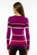 Пуловер женский с V-образным вырезом 618F151 фиолетовый