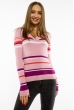 Пуловер женский с V-образным вырезом 618F151 розовый