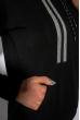 Спортивный костюм на флисе 118P3 черный