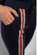 Спортивный костюм на флисе 118P3 темно-синий / красный