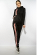 Спортивный костюм на флисе 118P3 черный / красный