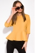 Блуза однотонная 148P32 желтый