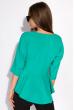 Блуза однотонная 148P32 бирюзовый