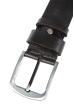 Ремень с классической пряжкой серебристого цвета  97P006-1 черный