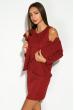 Платье и жакет 110P763 бордовый