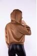 Куртка из вельвета 153P013-1 светло-коричневый
