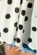 Блуза женская на тонких бретелях 266F011-5 молочно-черный