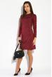 Платье женское в стиле Casual  5500 бордовый меланж
