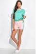 Костюм двухцветный (шорты, футболка) 120PKLDL1771 мятный