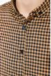 Рубашка мужская в клетку 511F003-5 горчично-черный