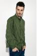 Рубашка мужская в клетку 511F003-5 черно-зеленый