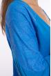 Кофта с кружевом на рукавах  11P12078 ярко-голубой