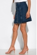 Джинсовая юбка на пуговицахl 32P3058 синий
