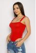 Боди женское на бретелях 629F1226 красный