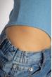 Боди женское на бретелях 629F1226 голубой