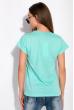 Футболка женская с надписью на груди 148P333-4 светло-бирюзовый