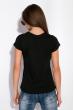 Футболка женская с надписью на груди 148P333-4 черный