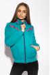 Куртка женская 146P2325-1 на флисе бирюзовый