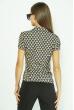 Принтованная блуза 118P332 бежево-синий