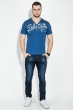 Футболка мужская с иммитацией  двойки 81P02036 синий
