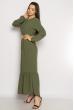 Платье в пол  640F001 хаки