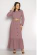 Платье в пол  640F001 сиреневый