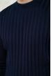 Джемпер с воротником стойка 85F135 грифельный