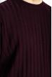 Джемпер с воротником стойка 85F135 вишневый