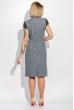 Платье женское (батал) с кружевом на рукавах и поясе 74PD305 серо-синий меланж