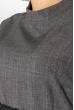 Платье женское (батал) с кружевом на рукавах и поясе 74PD305 серый меланж