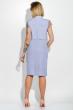 Платье женское (батал) с кружевом на рукавах и поясе 74PD305 сиреневый меланж