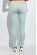 Брюки женские с лампасами 424F001 мятно-белый