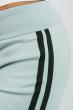 Брюки женские с лампасами 424F001 мятно-черный