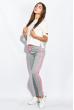 Брюки женские с лампасами 424F001 серо-розовый