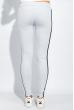Брюки женские с лампасами 424F001 светло-серый меланж