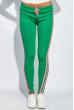 Брюки женские с лампасами 424F001 зелено-розовый