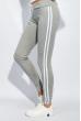 Брюки женские с лампасами 424F001 серо-белый